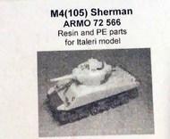 Armo  1/72 M4(105) Sherman - for Italeri (with PE) ARMO72566