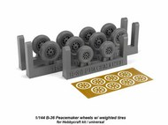 Armory  1/144 Boeing B-36B/B-36D Peacemaker wheels w/ weighted tires ARAW14301