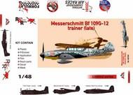 Messerschmitt Bf-109G-12 (trainer), late (plast,pe,dec,resin,mask) #ARG48704