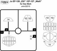 Masks for Junkers Ju EF-126 Elli / EF-127 paint mask ARTM32010