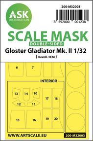 Gloster Gladiator Mk.I/Mk.II -Kabuki wheels and canopy masks* #200-M32003