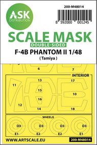 McDonnell F-4B Phantom wheels and canopy masks* #200-M48014
