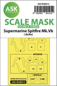 Supermarine Spitfire Mk.Vb wheels and canopy masks* #200-M48015