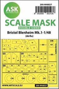 Bristol Blenheim Mk.I wheels and canopy masks* #200-M48027