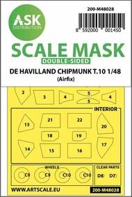 de Havilland Chipmunk T.10 wheels and canopy masks #200-M48028