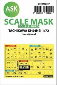 Tachikawa Ki-54 Hei Kabuki Kabuki wheels and canopy masks* #200-M72007