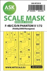 McDonnell F-4B/F-4C/F-4D/F-4N Phantom II wheels and canopy masks* #200-M72010