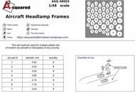 Aircraft Headlight Frames #AASQ48003