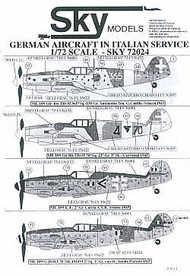 Astra Decals  1/72 German Aircraft/Italian service SKY72024