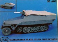 Sd.Kfz. 251/9 D Canvas Covers - 2 Types #ATK35A02