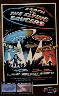 "Atlantis Models   N/A Earth vs The Flying Saucers: Attack Saucer w/LED Light 5"" Dia. AAN1005"