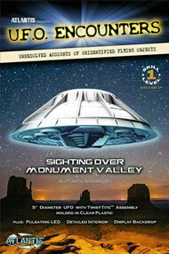 "Atlantis Models   N/A UFO Sighting over Monument Valley (Glow in the Dard) w/LED Lights 5""¥ Dia. AAN1007D"