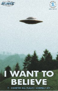 """Atlantis Models   N/A UFO from I Want to Believe Photo X-Files TV Series 5"""" Dia AAN1008"""