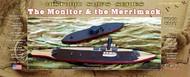 "Atlantis Models   N/A USS Monitor (6""L) & Merrimack (9.5""L) Ironclad Ships (Basswood Kits) AAN7003"