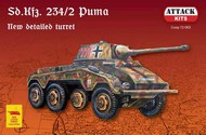Sd.Kfz.234/2 Puma (detailed, incl. resin turret, metal MG, two figures) #ATC72002