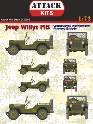 Jeep Willys MB CIAB (Czechoslovak Independent Armoured Brigade) #ATD72005
