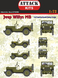 Jeep Willys MB Cz. Army Corps #ATD72006
