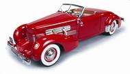 Autoworld Diecast  1/18 '37 Cord 812 Conv R&T Red AUT1014