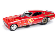 Autoworld Diecast  1/18 '71 Dodge Charger Gene Snow Fc AUT1118