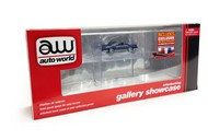 Auto World  1/64 Six-Car Interlocking Display Showcase w/Mirror Back & One Car AWD12