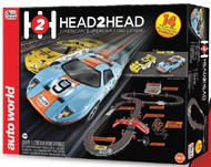 Auto World  HO Head-to-Head American Supercar Challenge Slot Car 14' Racing Set AWD32403