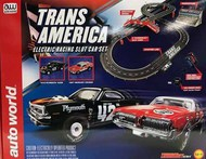 Auto World  HO Trans America Slot Car 10' Racing Set AWD32603