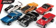 Auto World  HO Thunderjets Muscle Cars USA Slot Car Assortment - Series #21 (12 Total) AWD329