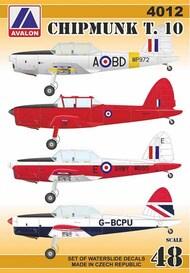 de Havilland DHC Chipmunk T.10 (6x paint schemes) #AVD4012