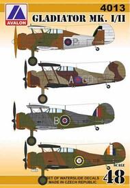 Gloster Gladiator Mk.I/Mk.II (6 x camouflage schemes) #AVD4013