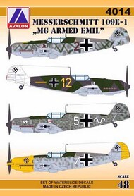 Avalon  1/48 Messerschmitt Bf-109E-1 'MG-armed Emils - Pre-Order Item AVD4014