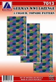 German lozenge - 5 colour, topside pattern (1 sheet) #AVD7013