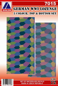 German lozenge set - 5 colour, topside and underside patterns (2 sheets) #AVD7015