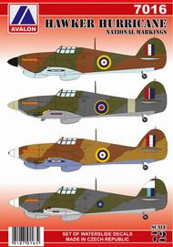 Hawker Hurricane National Markings #AVD7016
