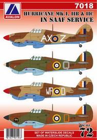 Hawker Hurricane Mk.I/Mk.IIB/Mk.IIC in SAAF service #AVD7018