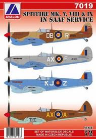 Supermarine Spitfire Mk.V/Mk.VIII/Mk.IX in SAAF service #AVD7019