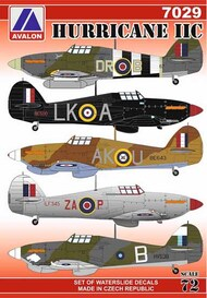 Hawker Hurricane Mk.IIC (6 x camouflage schemes) #AVD7029