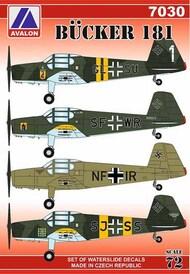 Bucker Bucker Bu.181 (6 x camouflage schemes) #AVD7030