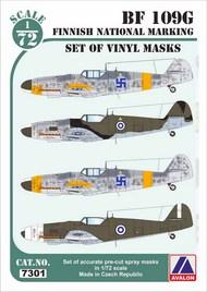 Messerschmitt Bf.109G Finnish National Markings #AVD7301