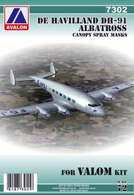 de Havilland DH.91 Albatross canopy paint mask #AVD7302
