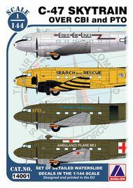 Avalon  1/144 Douglas C-47 Skytrain over PTO and CBI AVN14401