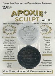 Aves Apoxie   N/A Apoxie Sculpt White 2-Part Self-Hardening (Net wt. 4oz.) AVX1371