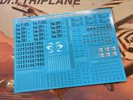 Aviattic  1/24 Fokker F.I/Dr.I serial numbers, stencils, weight tables etc Meng Model kit (Screen printed) ATT24010