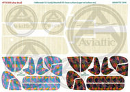 Halberstadt CL.II bleached CDL lower surfaces (upper tail surfaces inc.) (Clear decal paper) #ATT32203