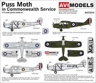 de Havilland DH-80A Puss Moth 'In Commonwealth Service' #AVI72014