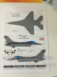 Babibi Models  1/72 F-16C/F-16D & Block 30-40-50-50M-50+ NEW TAIL BAB01018