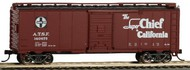 Bachmann  HO 40' Santa Fe Map Boxcar Super Chief #140675 BAC16501