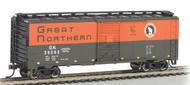 Bachmann  N AAR 40' Steel Boxcar Great Northern BAC17059