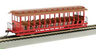 Bachmann  HO Os Excursion Car Red+Sil BAC19349