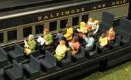 Bachmann  HO Scenescapes Waist-Up Passengers Seated (12) BAC33115