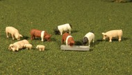 Bachmann  HO Scenescapes Pigs (9) BAC33118